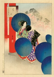 Parasols Woodblock